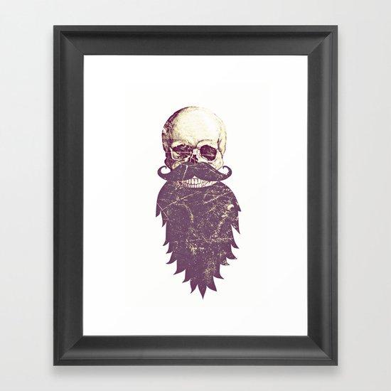 Beard Skull 3 Framed Art Print