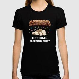 Kathryn Name Gift Sleeping Shirt Sleep Napping T-shirt