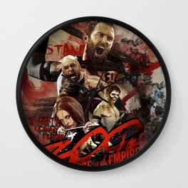300, rise of an empire Wall Clock