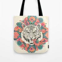 Tote Bags featuring bengal mandala by Laura Graves