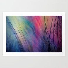 Tropical Feather Abstract Art Print