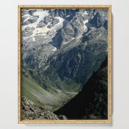 Hiking in the french Alps Serving Tray