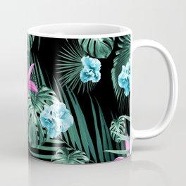 Tropical Flowers & Leaves Jungle Night #2 #tropical #decor #art #society6 Coffee Mug