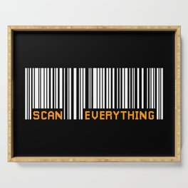 Scan Everything Amazonian Barcode - Party Code Serving Tray
