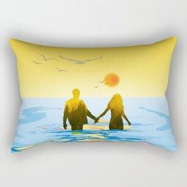 Together till the end Rectangular Pillow