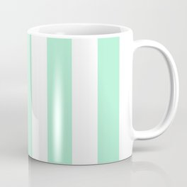Magic mint heavenly - solid color - white vertical lines pattern Coffee Mug