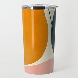 shapes geometric minimal painting abstract Travel Mug