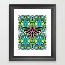 Hylian Royal Crest - Legend Of Zelda - Pattern Framed Art Print