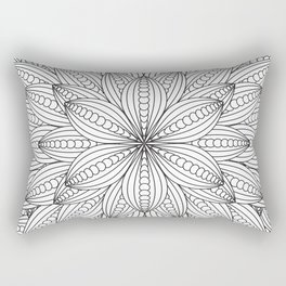 Geometric Flower Mandala - Color Your Own  Rectangular Pillow