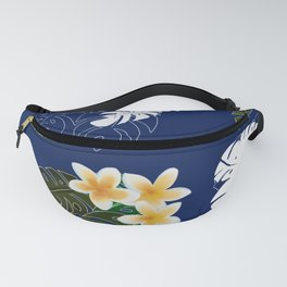 Plumera and Monstera Fanny Pack