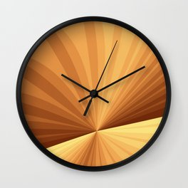 Graphic Design With Stripes Wall Clock