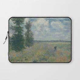 Claude Monet - Poppy Fields near Argenteuil (1875) Laptop Sleeve