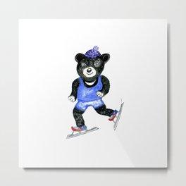 Skating bear Metal Print