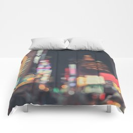 Times Square Abstract Comforters