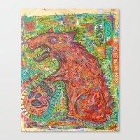 rat Canvas Prints featuring rat by strait89