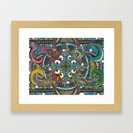 The Four Fish of Fortune Framed Art Print