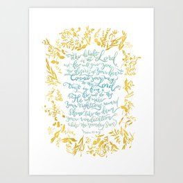 Take Delight in the Lord- Psalm 37:4-6 Art Print