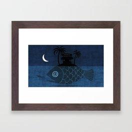 """Denpasar"" Illustration Toni Demuro Framed Art Print"