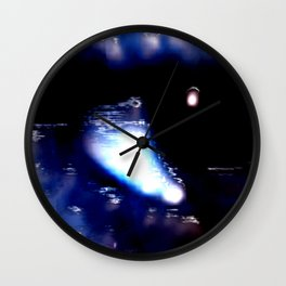 Blue Eyed Confusion Wall Clock