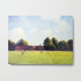 Hampton Court Green London 1891 By Camille Pissarro | Reproduction | Impressionism Painter Metal Print