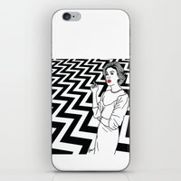 twin peaks iPhone & iPod Skins featuring Twin Peaks by Saul Art