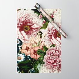 Vintage Peony and Ipomea Pattern - Smelling Dreams Wrapping Paper