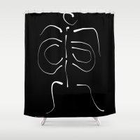 bones Shower Curtains featuring Bones by Roberto Vizzuett