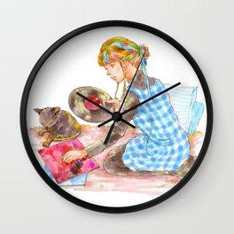 A girl with a kitten vol.2 Wall Clock