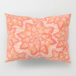 Celtic tones in peach Pillow Sham