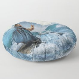 Fish Dance Fantasy Water Abstraction Floor Pillow