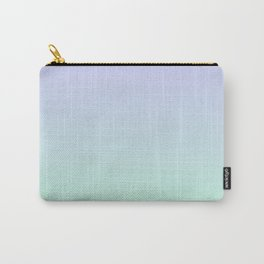 Mint Green and Lavender Ombre - Flipped Carry-All Pouch