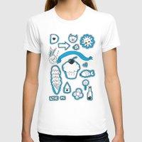 sticker T-shirts featuring Sticker World by Duru Eksioglu