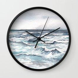 Ocean Watercolor Wall Clock