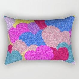 The Fragmented Hearts Rectangular Pillow
