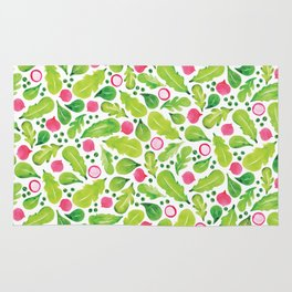 Green Salad pattern Rug