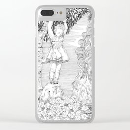 "untitled Xl "" Illustrations from a lost novel"" Clear iPhone Case"