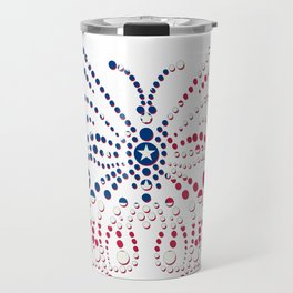 American Patriotic Colors Butterfly  Travel Mug