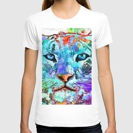 Snow Leopard Grunge T-shirt
