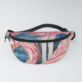 Flamingo Party Pink and Tropical Fanny Pack