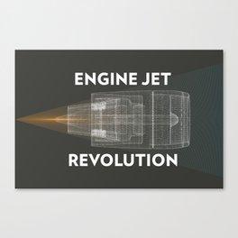 Engine Jet revolution Canvas Print