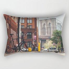 Crossing the divide Rectangular Pillow