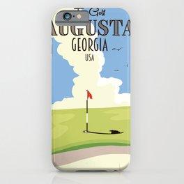 Augusta Georgia Golf Poster iPhone Case