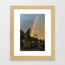 Fisherman's Memorial rainbow Framed Art Print