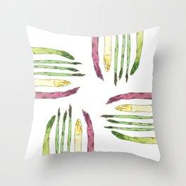 Asparaguys Throw Pillow