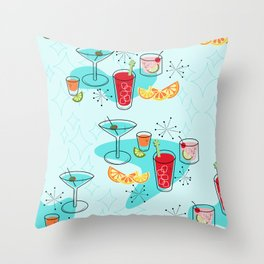 Cabo Cocktails Throw Pillow