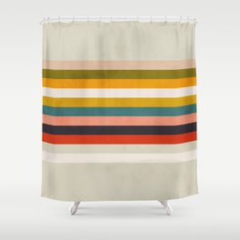 modern abstract stripe geometric Shower Curtain