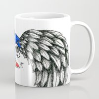 sonic Mugs featuring Sonic Angel by Hollie B