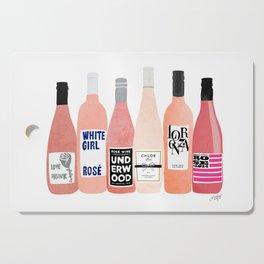Rose Wine Bottles Cutting Board