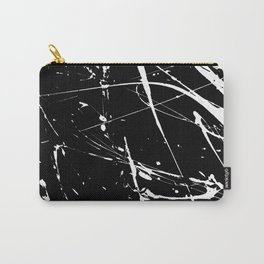 Modern hand painted black white watercolor splatters pattern Carry-All Pouch