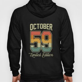 Vintage 60th Birthday October 1959 Sports Gift Hoody
